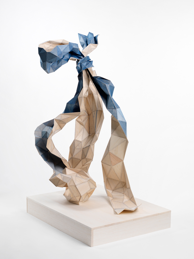 Amy Joy Watson, Wallflower, 2011, balsa wood, watercolour, polyester thread, 110 x 55 x 70cm